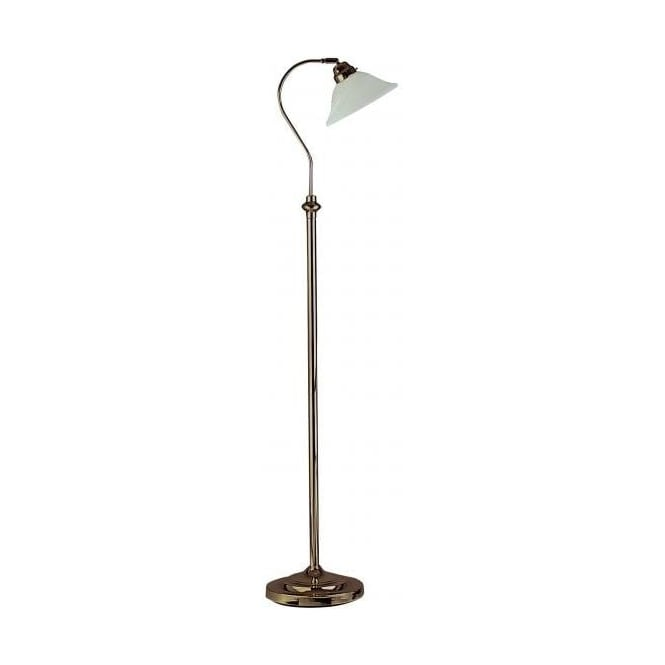 Searchlight 9122AB Uplighters & Floor Light 1 Light Floor Lamp Antique Brass