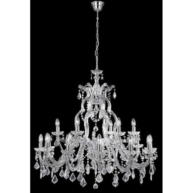 Searchlight 3314 18 marie therese 18 light polished chrome 3314 18 marie therese 18 light traditional crystal chandelier chrome finish mozeypictures Image collections