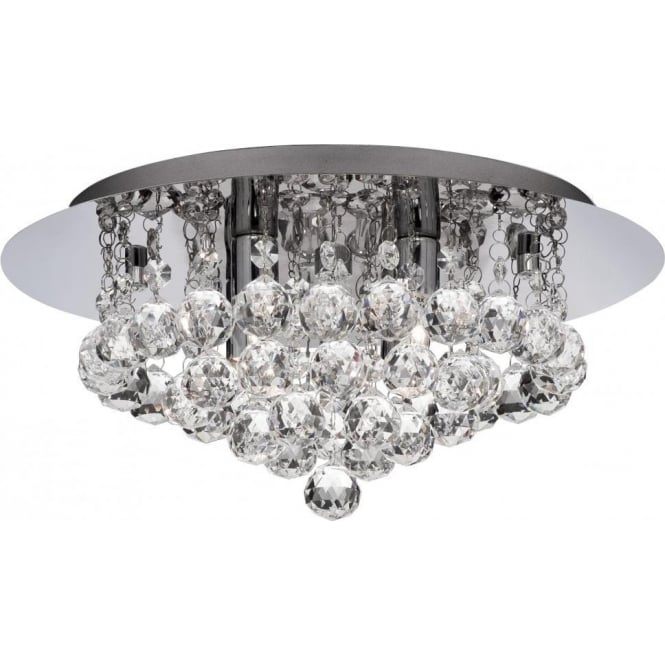 Searchlight 3404-4CC Hanna 4 Light Semi-Flush Ceiling Light Polished Chrome