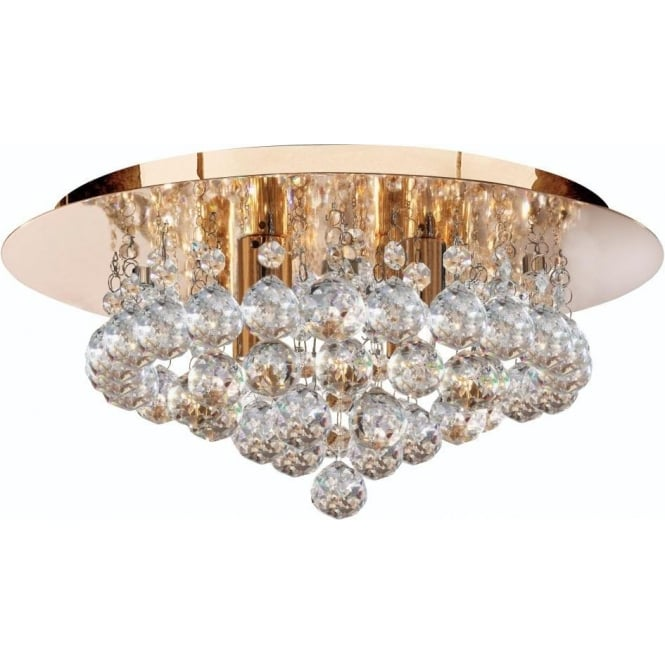 Searchlight 3404-4GO Hanna 4 Light Semi-Flush Ceiling Light Gold