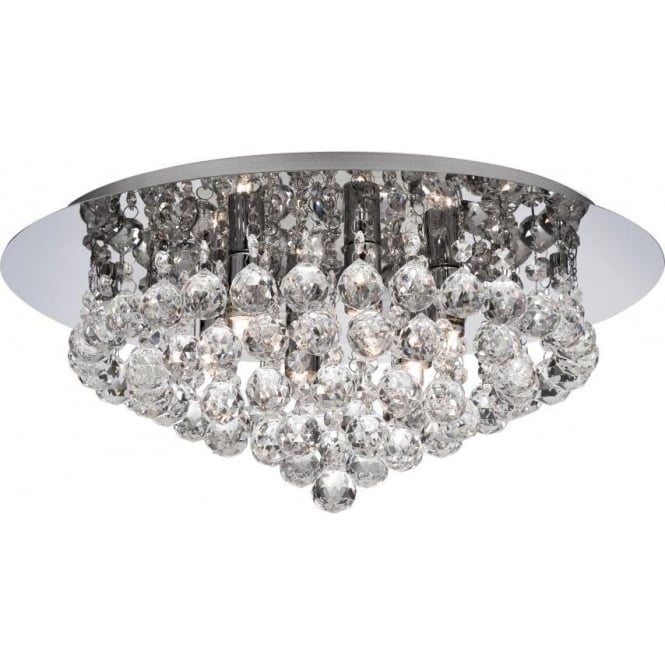 Searchlight 3406-6CC Hanna 6 Light Semi-Flush Ceiling Light Polished Chrome