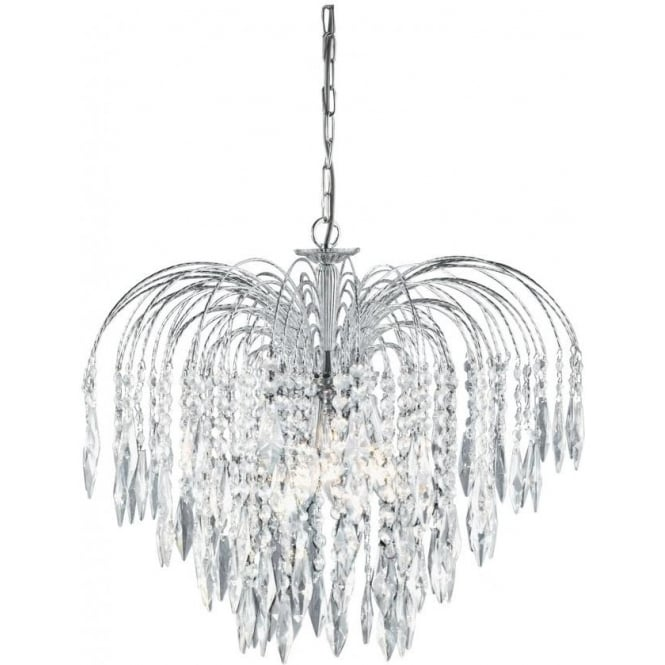 Searchlight 4175-5 Waterfall 5 Light Ceiling Pendant Polished Chrome