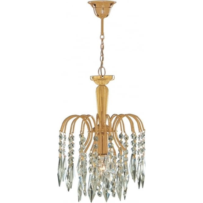Searchlight 6271-1 Waterfall 1 Light Ceiling Pendant Gold