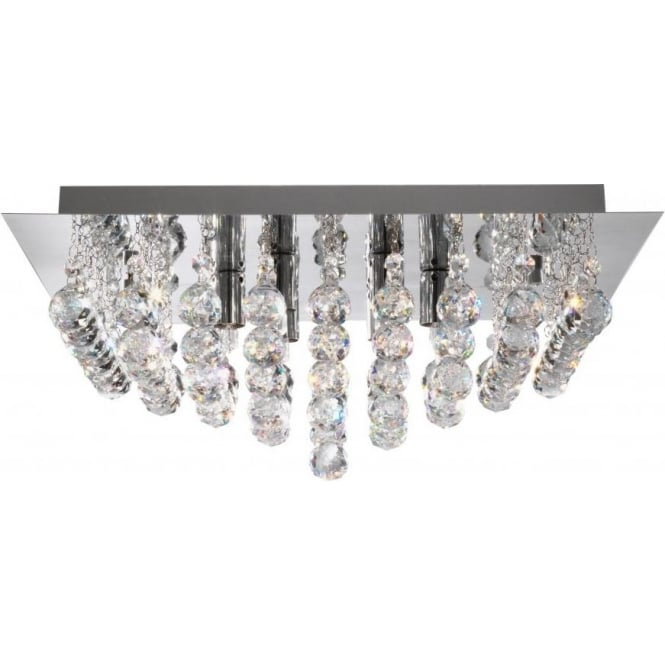 Searchlight 6404-4CC Hanna 4 Light Semi-Flush Ceiling Light Polished Chrome