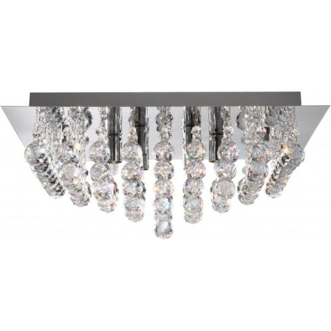 Searchlight 6406-6CC Hanna 6 Light Semi-Flush Ceiling Light Polished Chrome