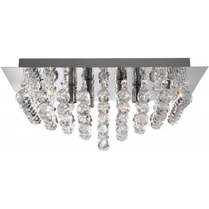 Searchlight 6408-8CC Hanna 8 Light Semi-Flush Ceiling Light Polished Chrome