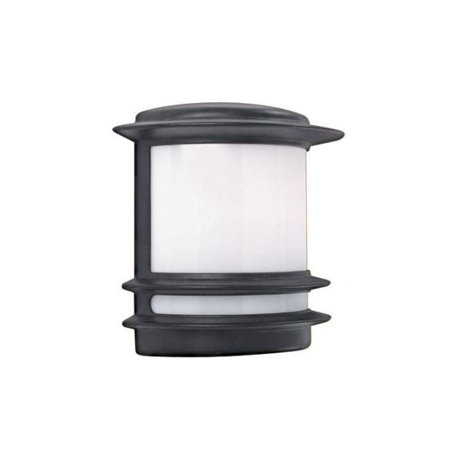 Searchlight 1812 1 light traditional outdoor wall light black ip 1812 1 light outdoor wall light ip44 aluminium opal lens matt black aloadofball Choice Image