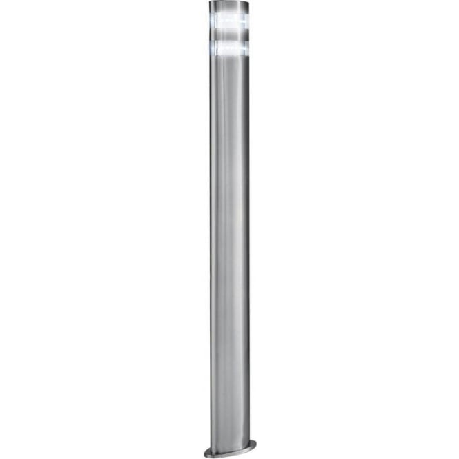 Searchlight 5304 900 outdoor led post lamp satin silver ip44 5304 900 led outdoor lights 24 light modern outdoor post lamp satin silver finish large mozeypictures Gallery