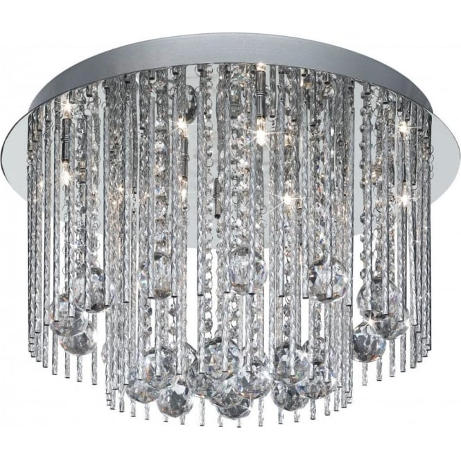 Searchlight 8088 8cc beatrix 8 light polished chrome semi flush 8088 8cc beatrix 8 light semi flush ceiling light polished chrome aloadofball Images