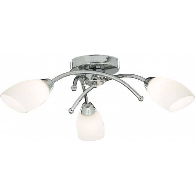 Searchlight 8183-3CC Opera 3 Light Semi-Flush Ceiling Light Polished Chrome