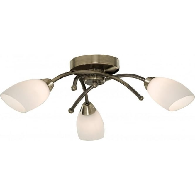 81833ab opera 3 light semiflush ceiling light antique brass