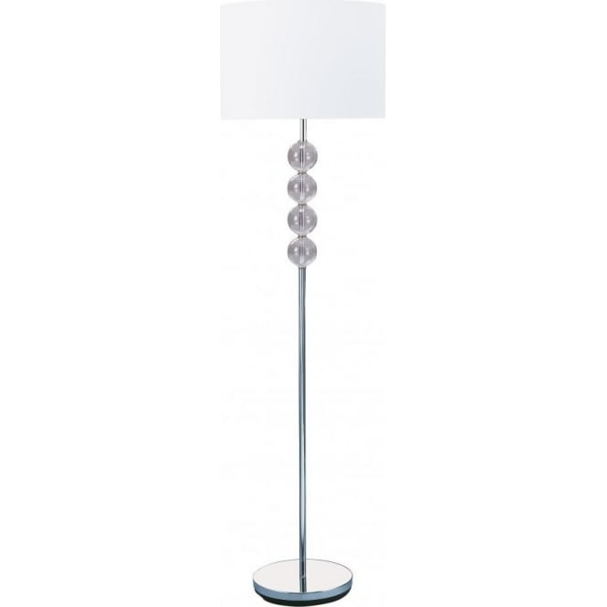 Searchlight 8194CC Table & Floor Lamps 1 Light Floor Lamp Polished Chrome