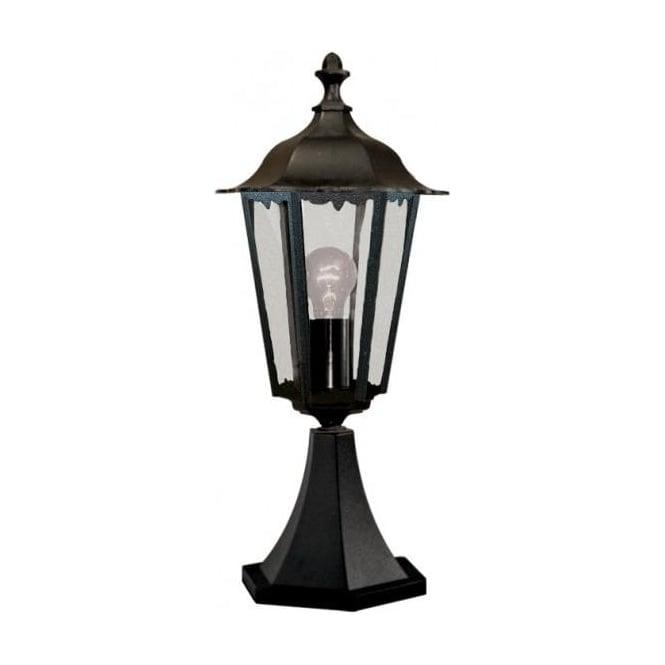 Searchlight 82503bk 1 light traditional outdoor small post lamp 82503bk alex 1 light traditional outdoor post lamp ip44 rated cast aluminium alchromated black finish small aloadofball Choice Image