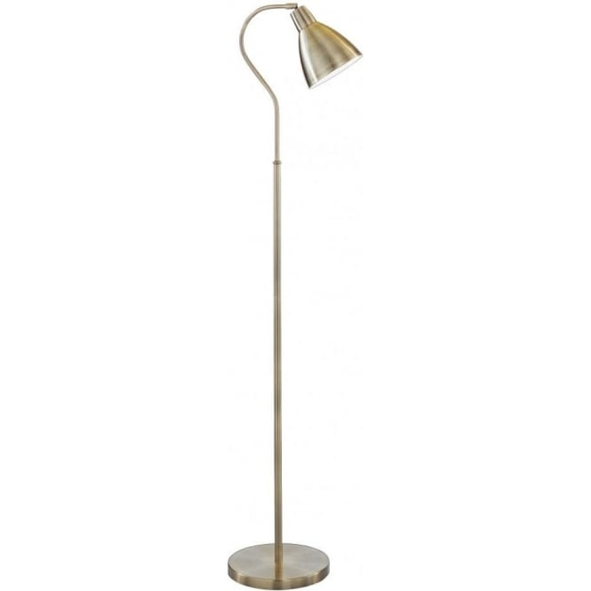 Searchlight 5026AB Floor Lamps 1 Light Traditional Floor Lamp Antique Brass Finish