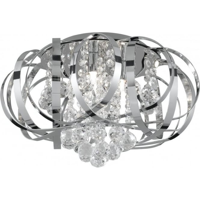 Searchlight 5973-3CC Tilly 5 Light Semi-Flush Ceiling Light Polished Chrome