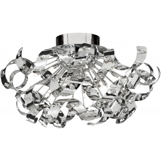 Searchlight 5812-12CC Curls 12 Light Semi-Flush Ceiling Light Polished Chrome