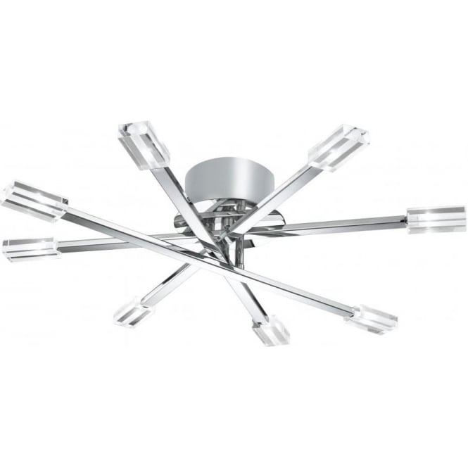Searchlight 3018 8cc lina 8 light polished chrome semi flush 3018 8cc lina 8 light semi flush ceiling light polished chrome aloadofball Choice Image
