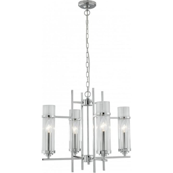Searchlight 3094-4CC Milo 4 Light Ceiling Light Polished Chrome
