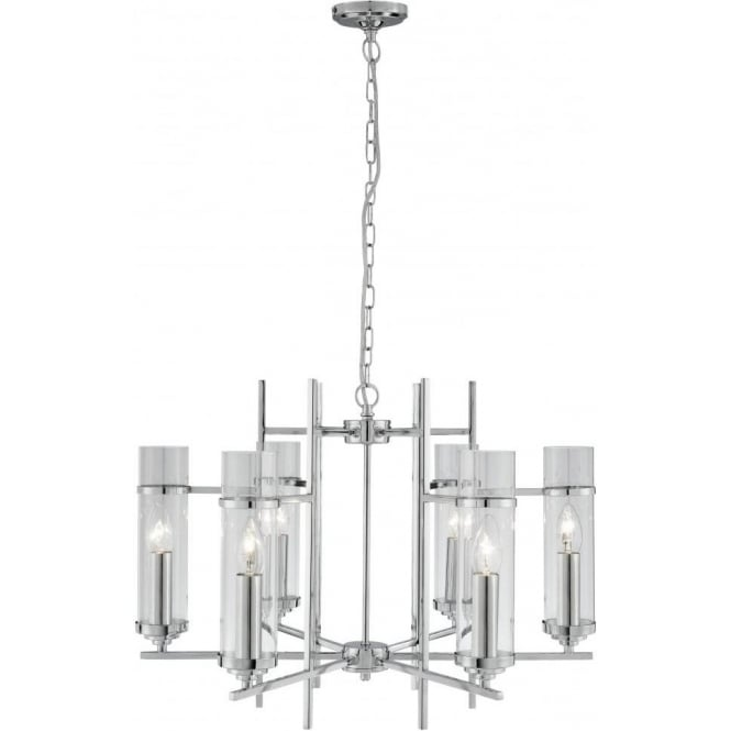 Searchlight 3096-6CC Milo 6 Light Ceiling Light Polished Chrome