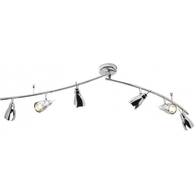 buy popular b9b39 a1633 HOU0650 Houston 6 Light Ceiling Swivel Spotlight Polished Chrome