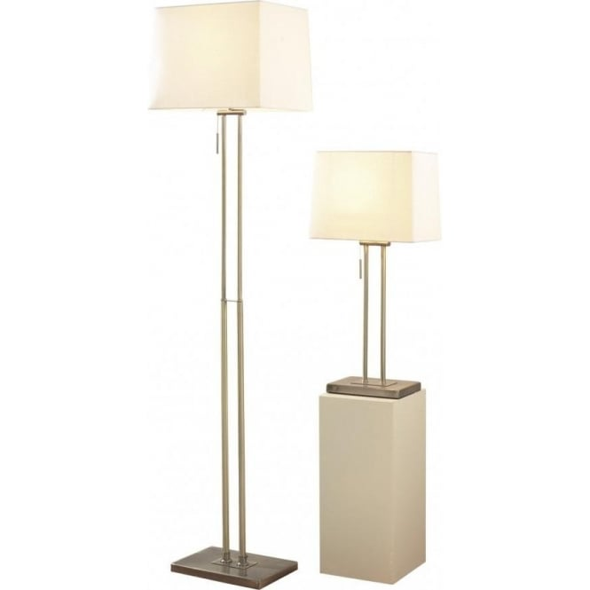 Dar PIC4975 Picasso Floor and Table Lamp Antique Brass