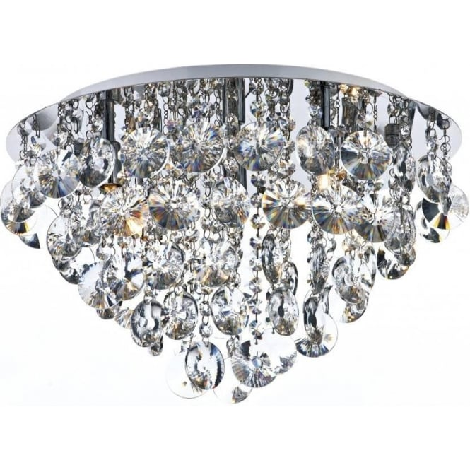 Dar jes5450 jester crystal flush ceiling light jes5450 jester 5 light crystal flush ceiling light polished chrome aloadofball Gallery