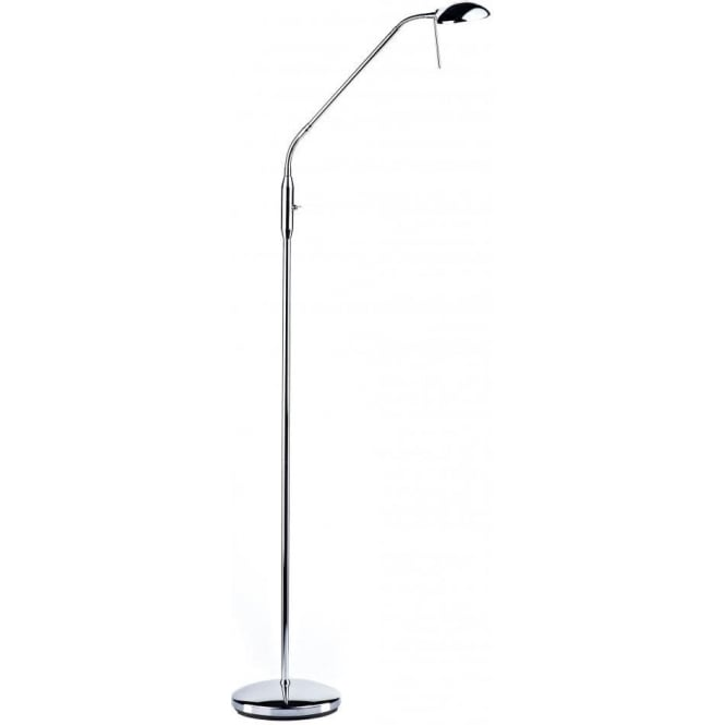 Dar HAL4950 Halo 1 Light Floor Lamp Polished Chrome