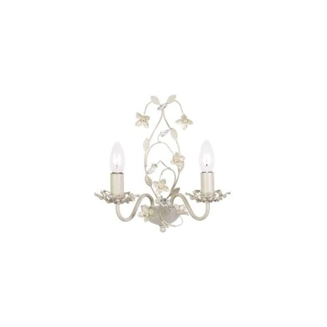 Endon LULLABY-2WBCR Lullaby 2 Light Wall Light Cream/Gold