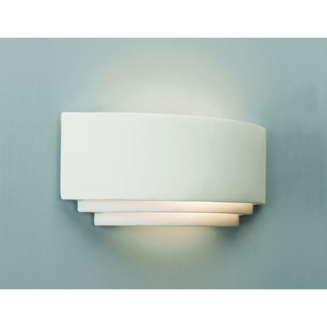 0423 amalfi 1 light wall light in ceramic white
