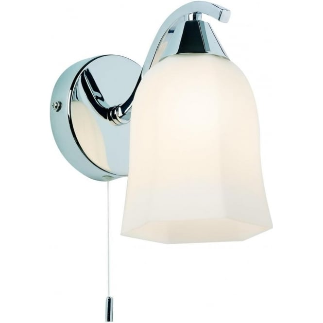 Endon 96961-WBCH Alonso 1 Light Switched Wall Light Chrome