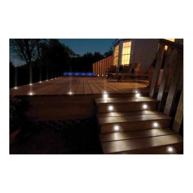 Decking plinth lighting 45mm led lighting online sd45 round 45mm led decking walkover plinth lights ip66 10 pack mozeypictures Image collections