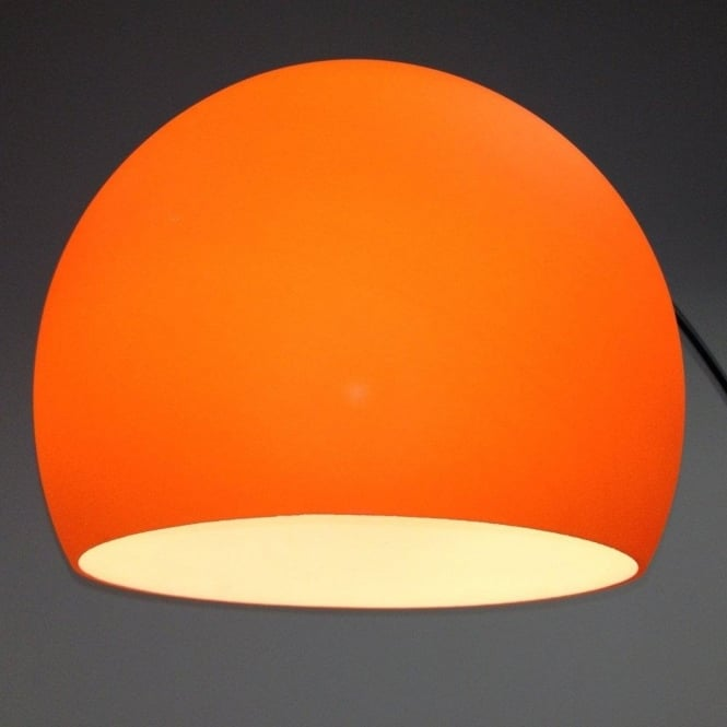 retro lighting. lrfloororange 1 light modern floor lamp orange and polished chrome retro lighting