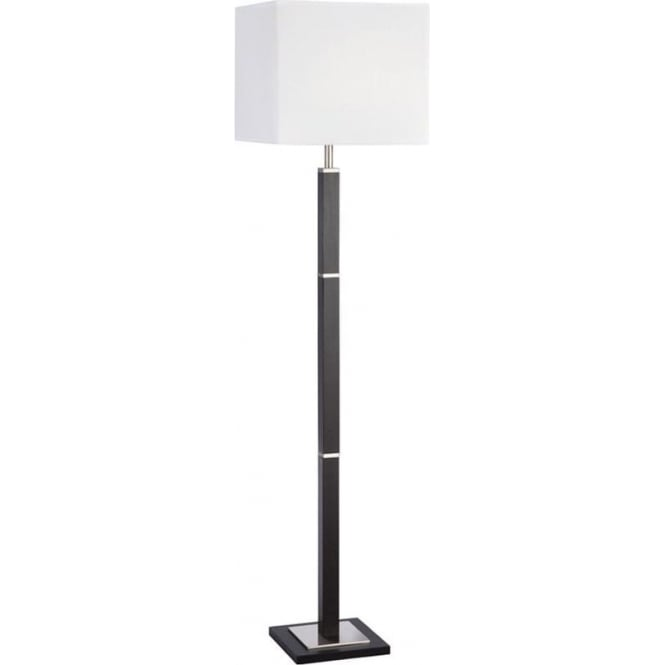 Searchlight 8880BR Waverley 1 Light Floor Lamp Satin Silver