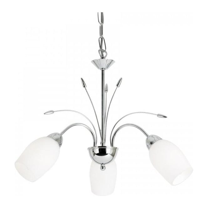 Endon 2007-3CH Meadow 3 Light Ceiling Light Polished Chrome