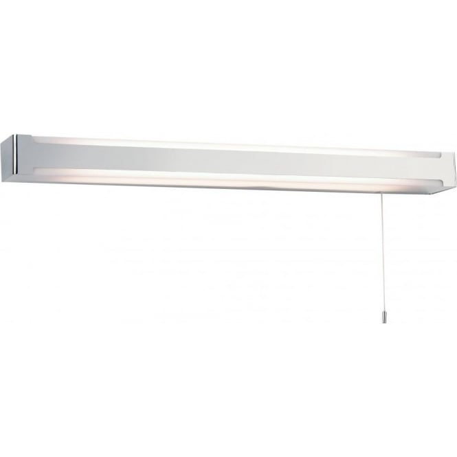 Endon EL-20044 Seval 1 light Switched Bathroom Wall Light Polished Chrome IP44