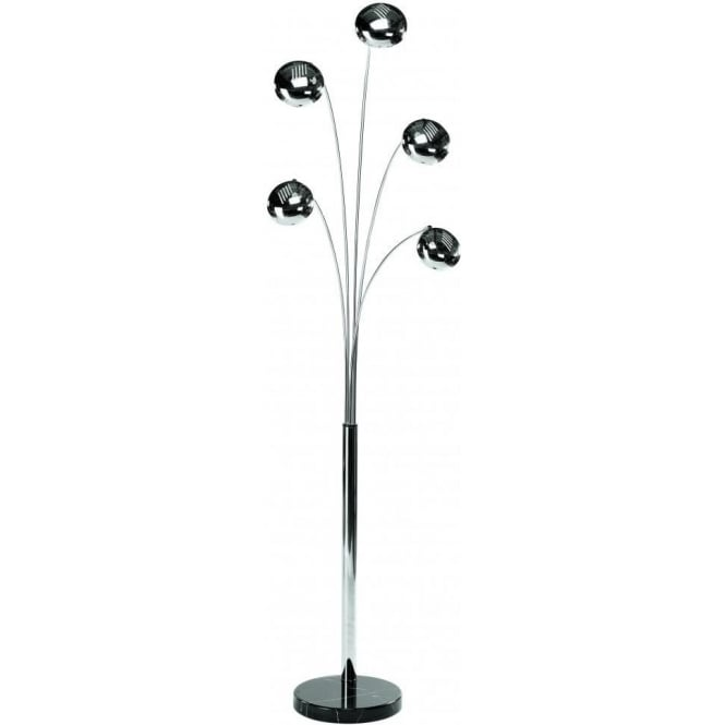 Lounge 5 Modern Chrome Floor Lamp