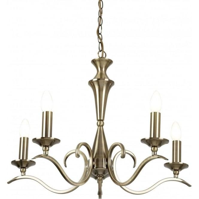 Endon kora 5ab ceiling light antique brass ceiling pendant kora 5ab kora 5 light ceiling light antique brass mozeypictures Images