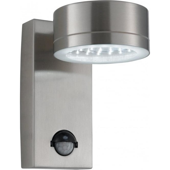 Chrome Garden Wall Lights : Searchlight 9550SS Outdoor Wall Light With Sensor IP44