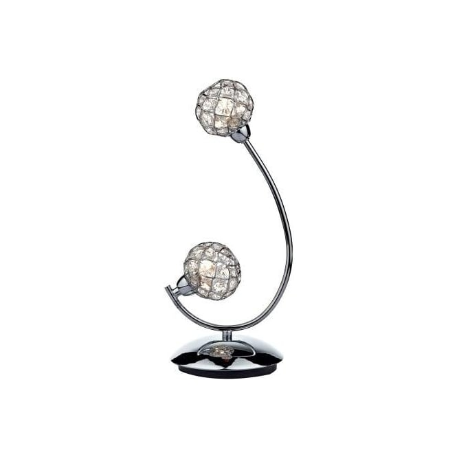 Dar CIR4250 Circa 2 Light Table Lamp Polished Chrome