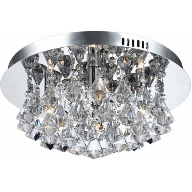 Impex Russell CFH011025/04/CH Parma 4 Light Flush Ceiling Light Polished Chrome