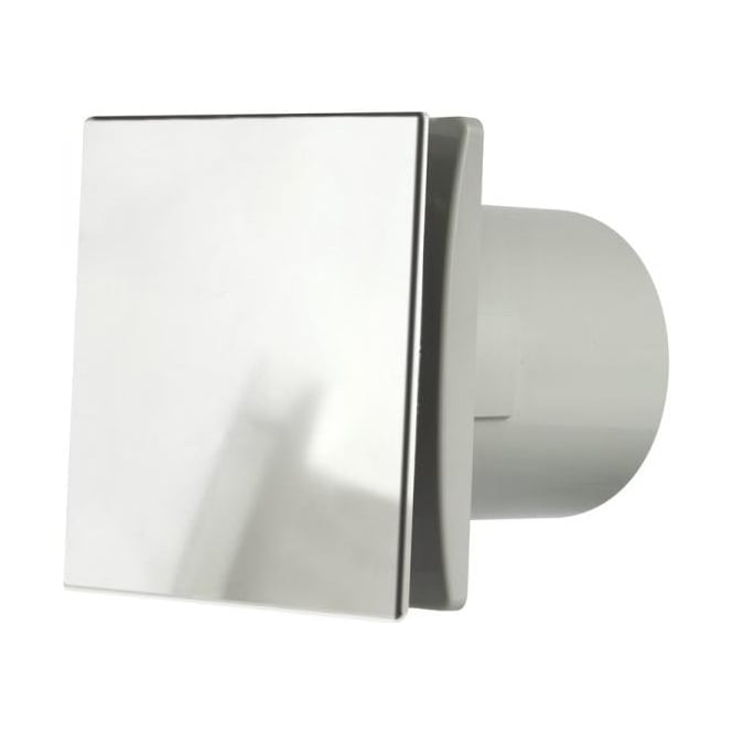 Manrose MDECO100SC Bathroom/Shower/Toilet Standard Extractor Fan 100mm Brushed Chrome Finish