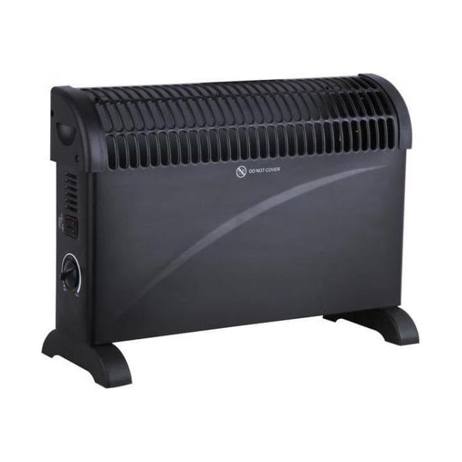 Ocean OH2K/5B 2000w / 2Kw Thermostatic Controlled Convector Heater Wall & Free Standing Black