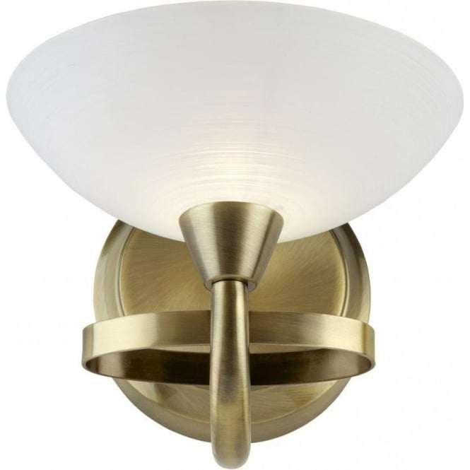Endon CAGNEY-1WBAB Cagney 1 Light Wall Light Antique Brass