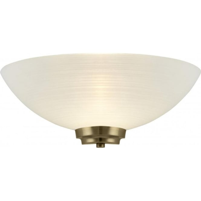 Endon WELLES-1WBAB Welles 1 Light Wall Light Antique Brass