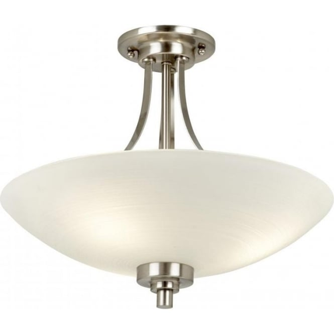 Endon WELLES-3SC Welles 3 Light Ceiling Light Satin Chrome