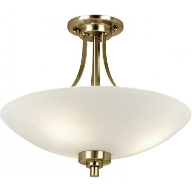Endon WELLES-3AB Welles 3 Light Ceiling Light Antique Brass