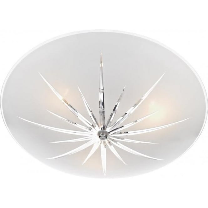 Dar ALB532 Albany 3 Light Semi-Flush Ceiling Light Polished Chrome