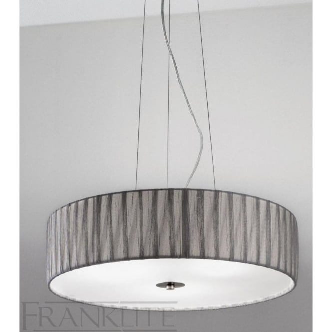 Fabric pendant lights fl22844 fl2284el418 lucera 4 light ceiling pendant translucent silver aloadofball Choice Image