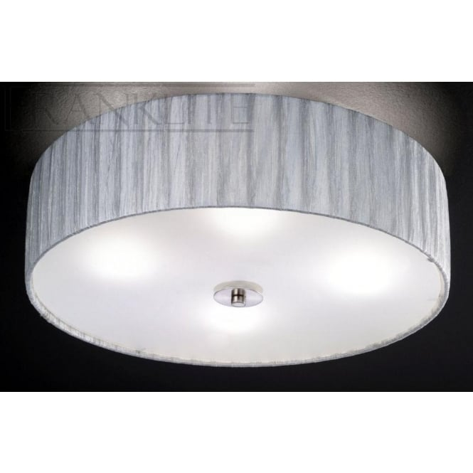 Fabric flush ceiling lights aloadofball Image collections