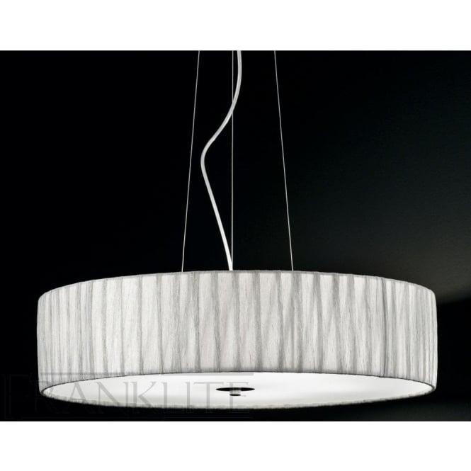 Fabric pendant lights fl22845 fl2284el518 lucera 5 light ceiling pendant translucent silver mozeypictures Choice Image